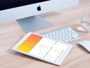 Health dashboard op tablet