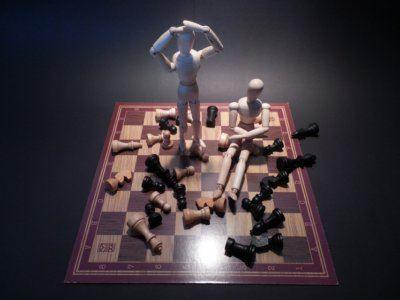 Conflicten schaakbord