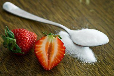 aardbeien suiker bloedsuikerspiegel